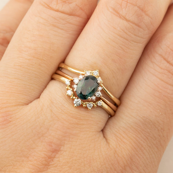 Lena Ring -0.98ct Queensaland Sapphire, 14k Rose Gold  (One of a kind)