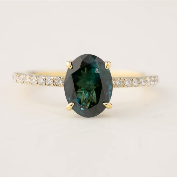 For Dylan (Payment 1/2) Maria Ring - 1.64ct Green Tourmaline (One of a kind)