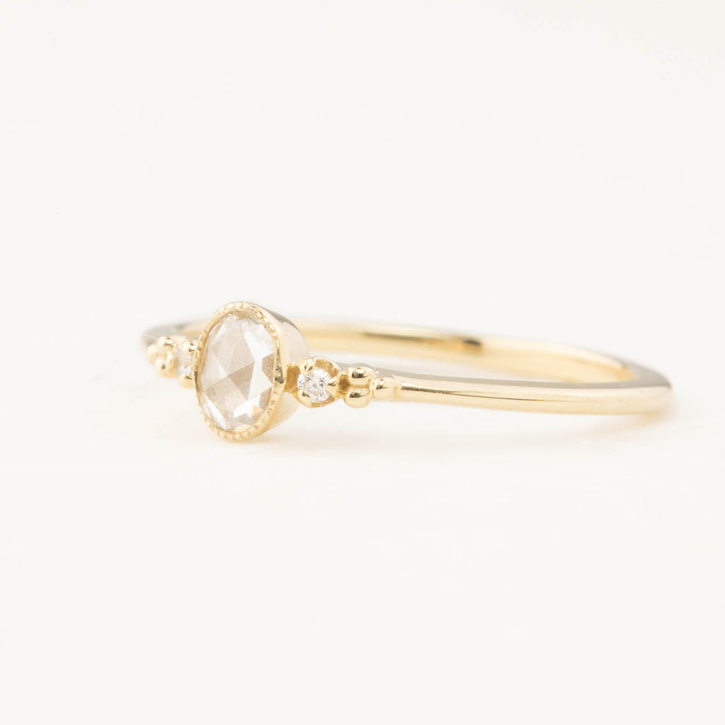 Estel Ring - 0.24ct Rose Cut Diamond (One of a kind)