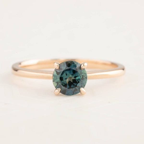 Jane Ring - 0.96ct Green Queensland Sapphire, 14k Rose Gold (One of a kind)