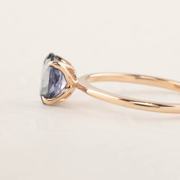 Sara Ring - 1.2ct Blue Montana Sapphire, 14k Rose Gold (One of a kind)