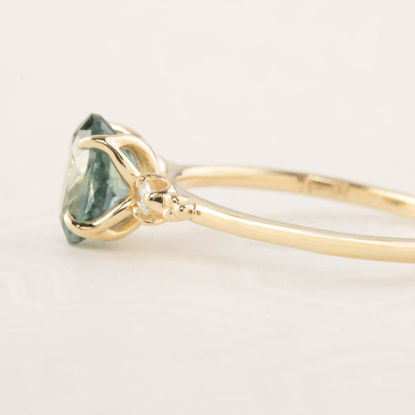 Estel Ring - 1.78ct Light Blue Green Montana Sapphire (One of a kind)