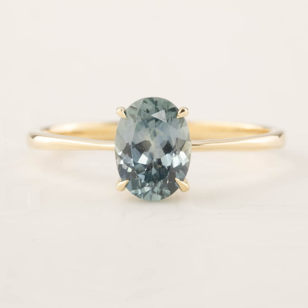 Nina Ring - 1.4ct Light Blue Montana Sapphire (One of a kind)