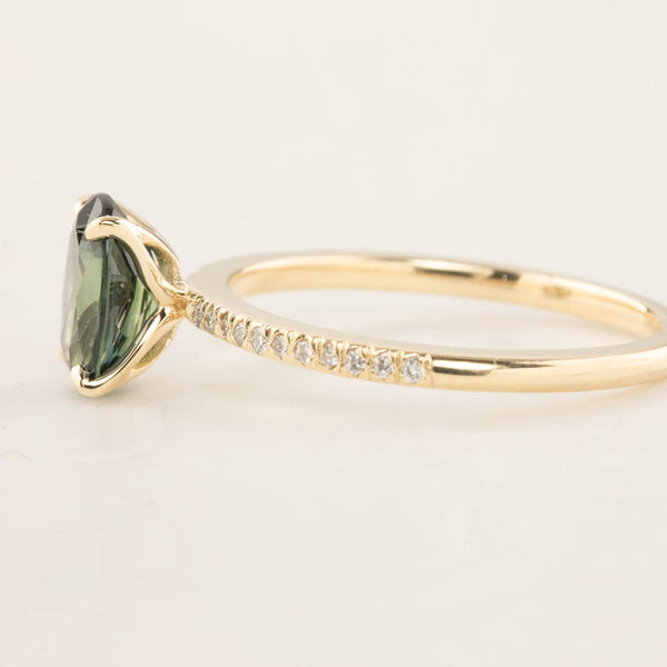 Maria Ring - 1.53ct Unheated Green Queensland Sapphire (One of a kind)