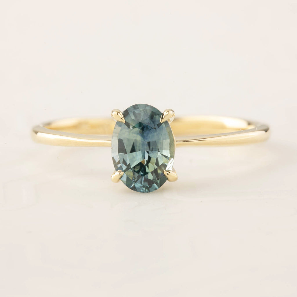 Nina Ring - 0.98ct Green Montana Sapphire (One of a kind)