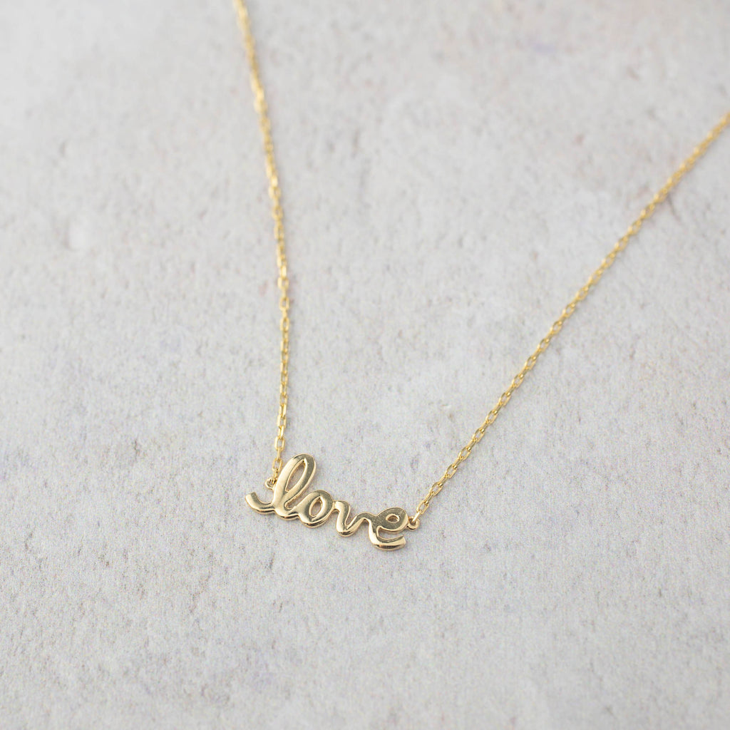 Script Necklace - Love