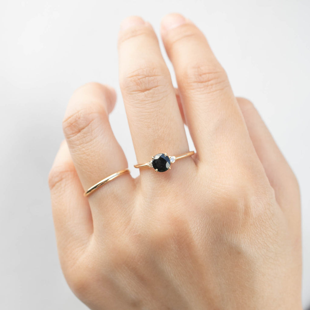 Sofia Ring - 1ct Queensland Peacock Sapphire (One of a kind)