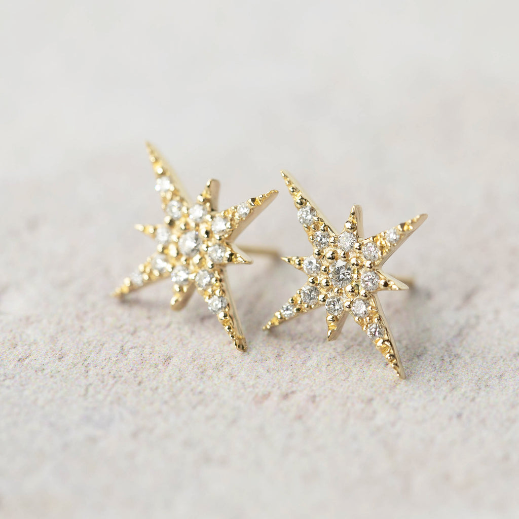 Starburst Diamond Studs (large)