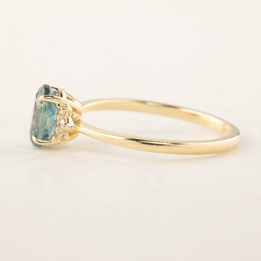 Lena Ring -1.2ct Green Montana Sapphire (One of a kind)