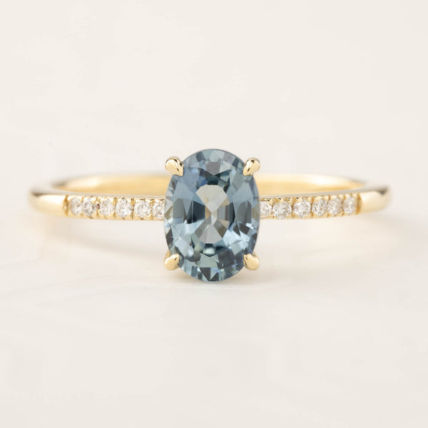 Audrey Ring - 1.12ct Ceylon Blue Sapphire (One of a kind)