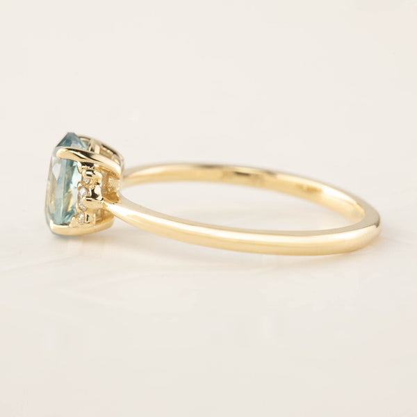 Lena Ring - 1.38ct Light Blue Montana Sapphire (One of a kind)