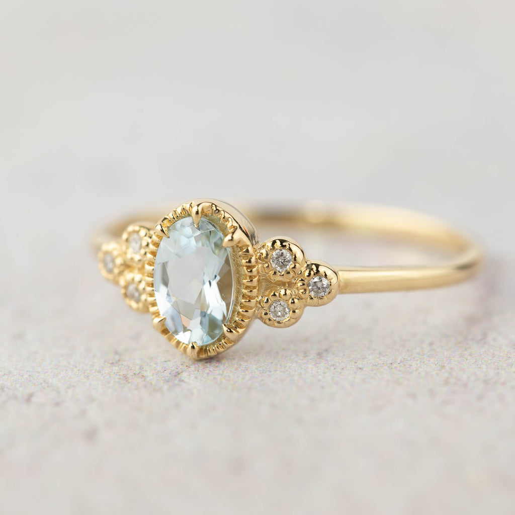 Celine Ring Oval Aquamarine