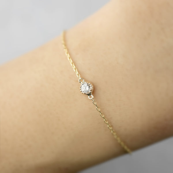 Dahlia Diamond Chain Bracelet