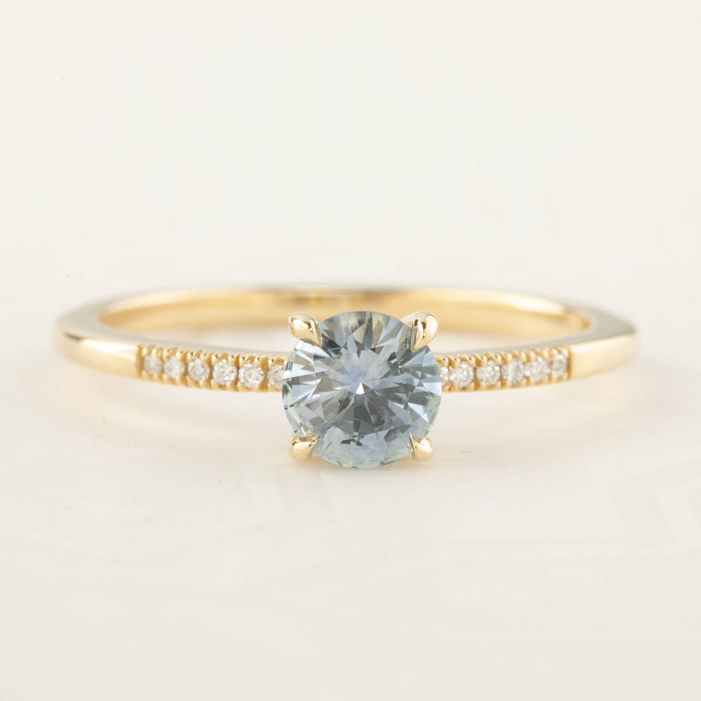 Audrey Ring - 0.75ct Light Blue Montana Sapphire (One of a kind)