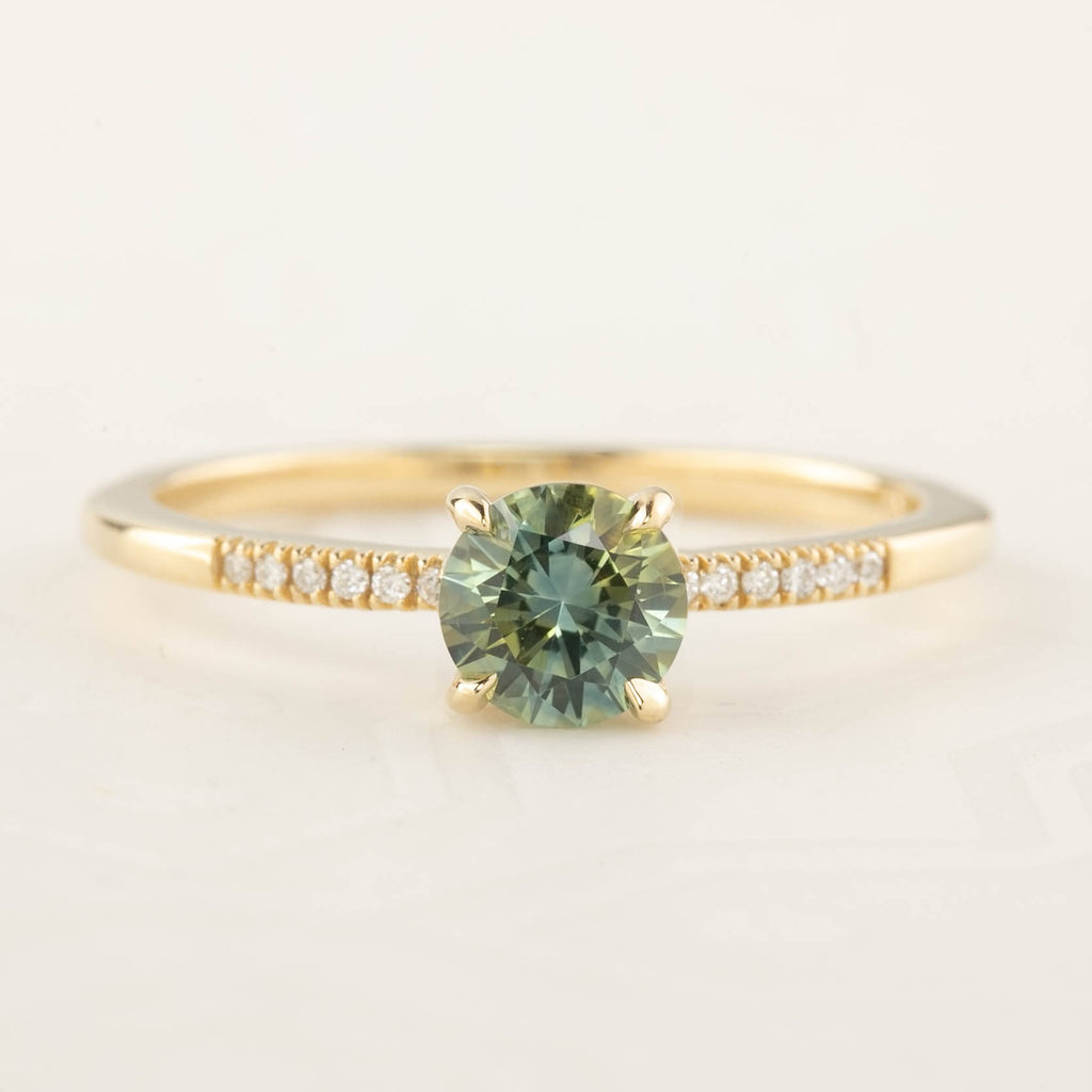 Audrey Ring - 0.75ct Parti Green Yellow Montana Sapphire (One of a kind)