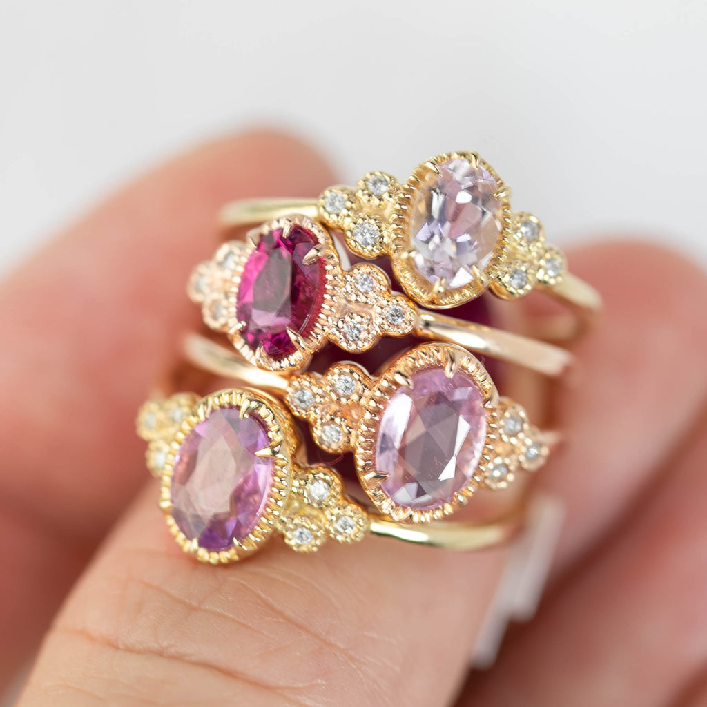 Celine Ring - Unheated Pink Sapphire