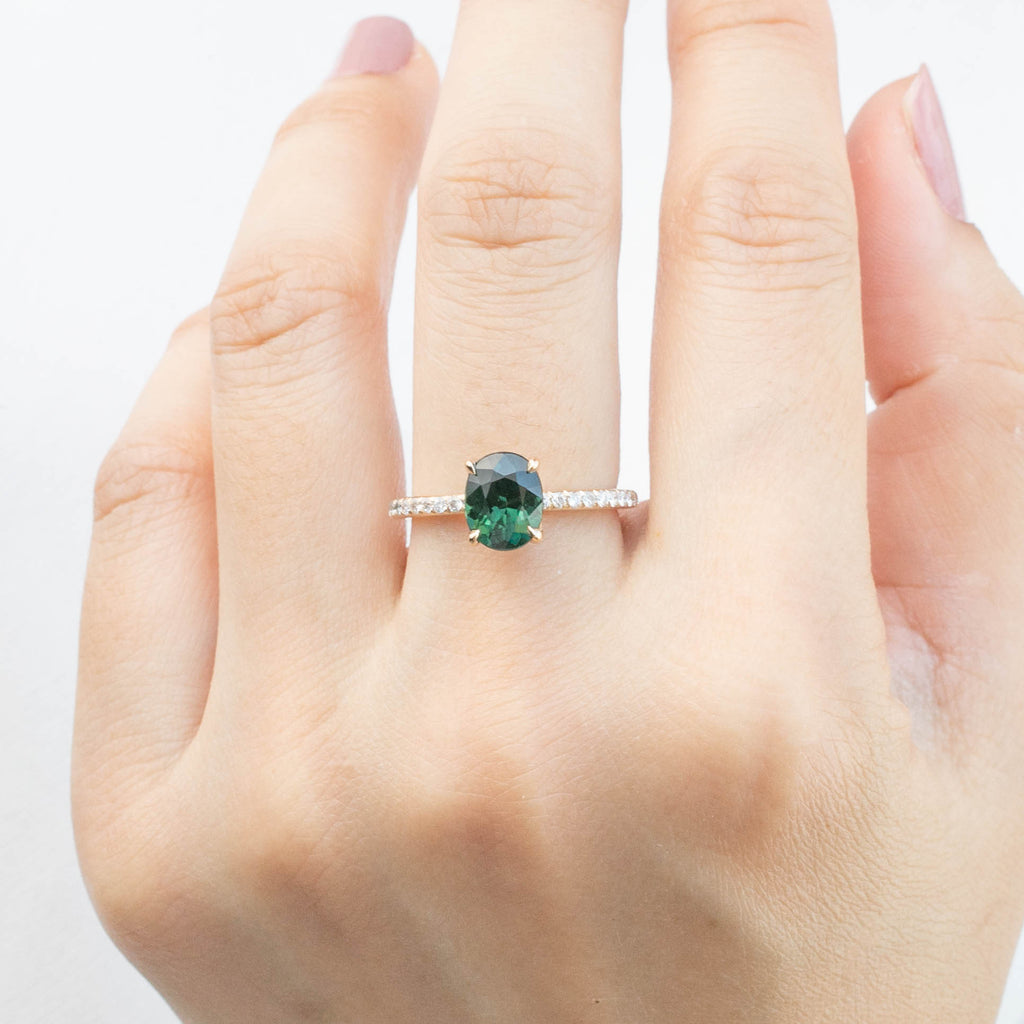 Maria Ring - 1.65ct Green Sri Lankan Sapphire (One of a kind)