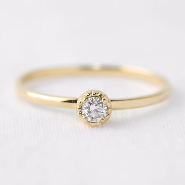 Dahlia Solitaire Ring - Diamond