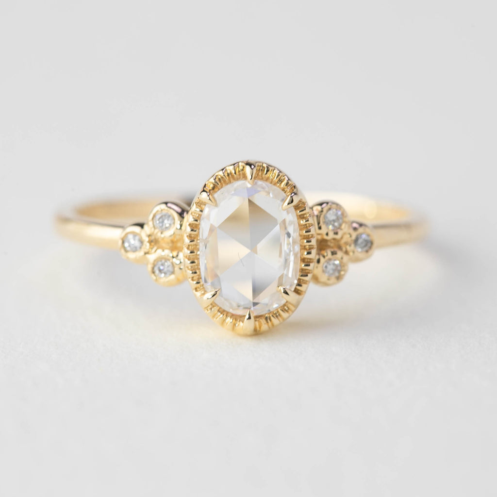 Celine Ring - 0.6ct Oval Rose Cut Diamond