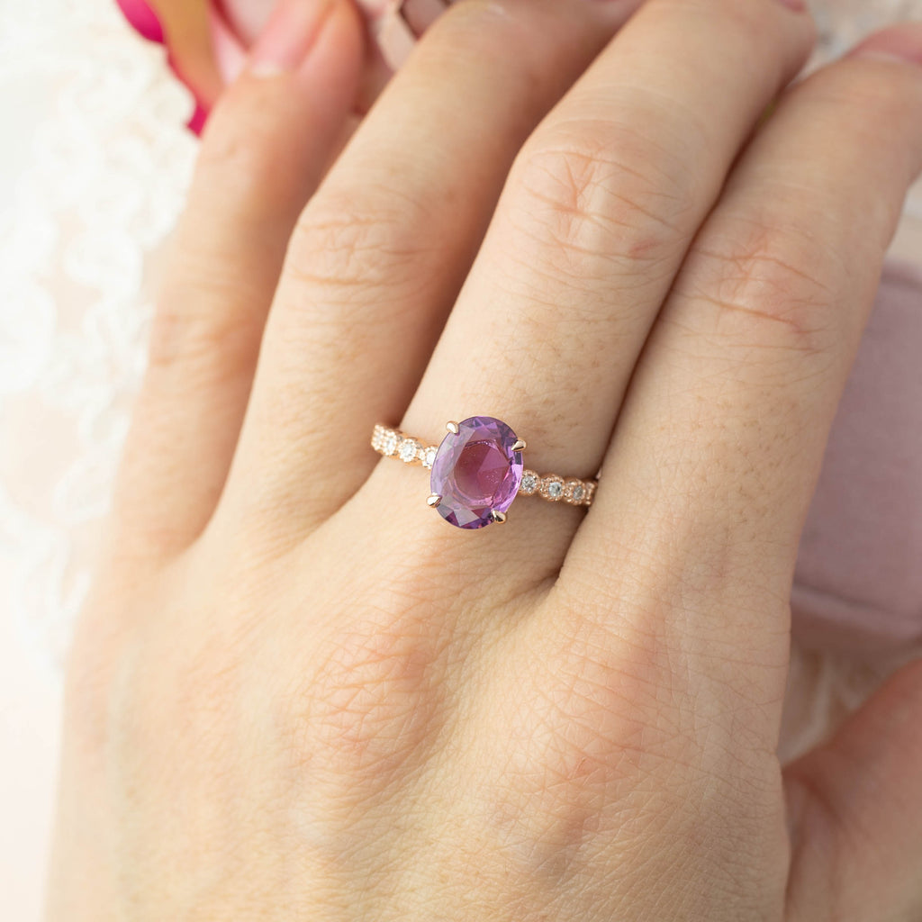 Amelie Ring - 1.6ct Lilac Sapphire