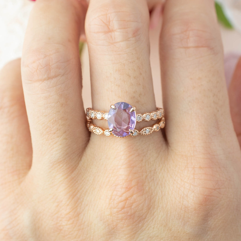 Amelie Ring - 1.24ct Lavender Sapphire