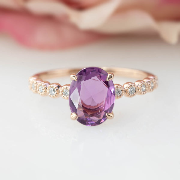Amelie Ring -1.6ct  Purple Sapphire (One of a kind)
