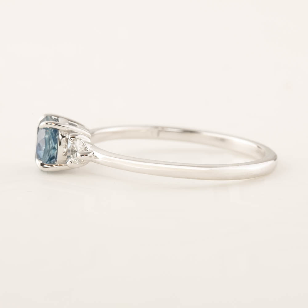 Emilie Ring - 0.84ct Blue Montana Sapphire (One of a kind)