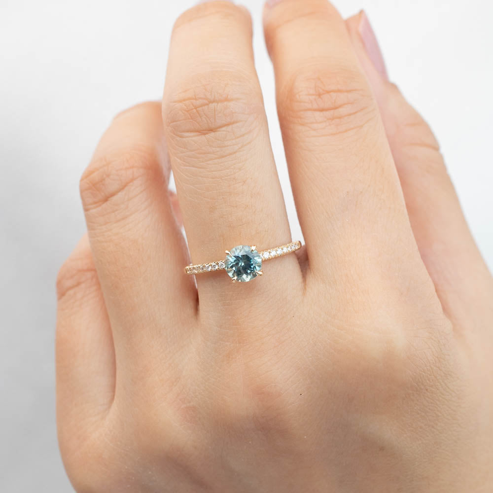 Maria Ring - 1.12ct Green Montana Sapphire (One of a kind)