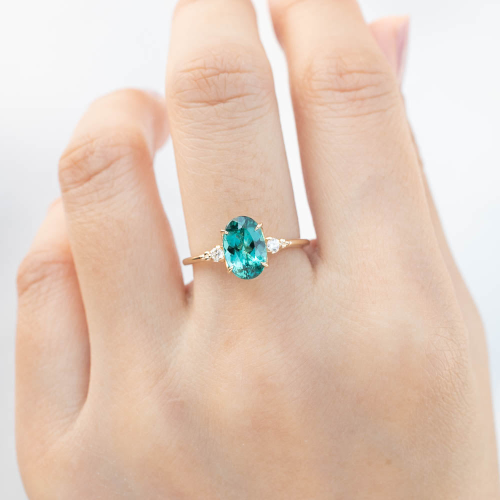 Estel Ring - 1.65ct Teal Blue Green Tourmaline (One of a kind)