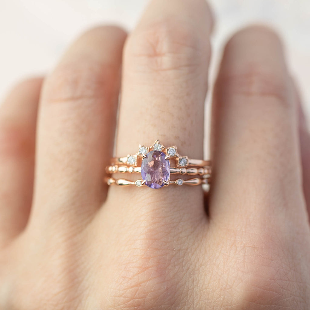 Unheated natural purple sapphire ring