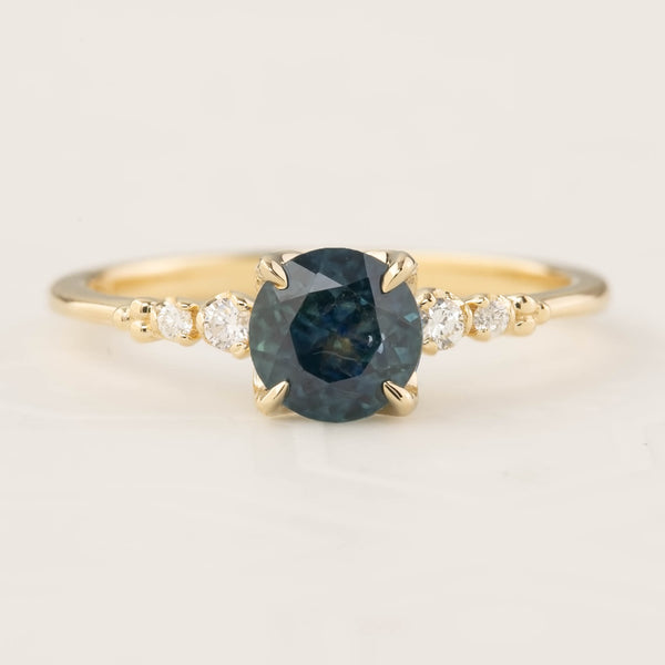 Estel Ring - 1.16ct Blue Green Montana Sapphire (One of a kind)