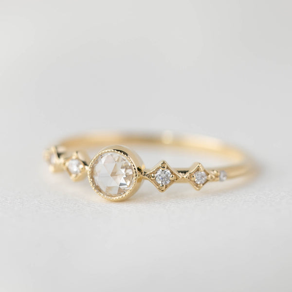 Celeste Ring - Round Rose Cut Diamond