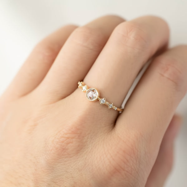 Celesta Ring - 4mm Round Rose Cut Diamond