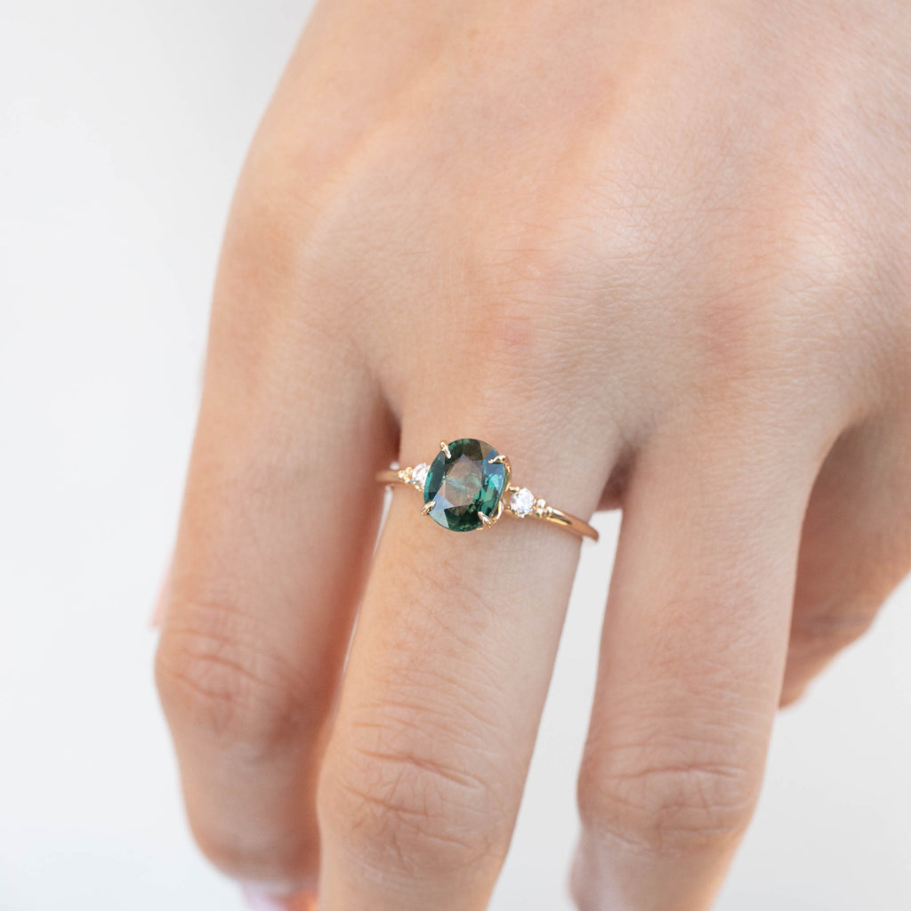 Estel Ring - 1.93ct Green Sapphire (One of a kind)