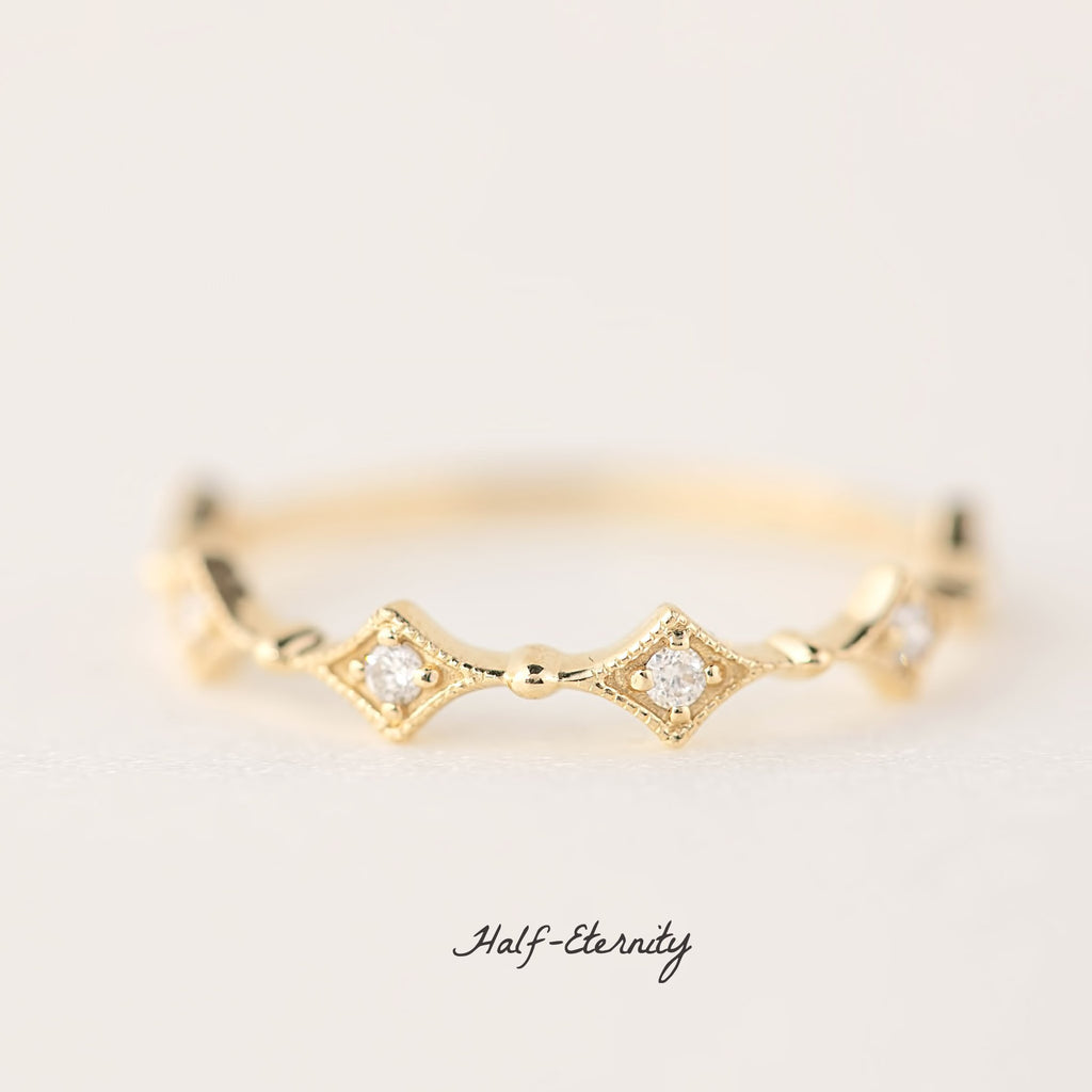 Star Diamond Eternity Ring
