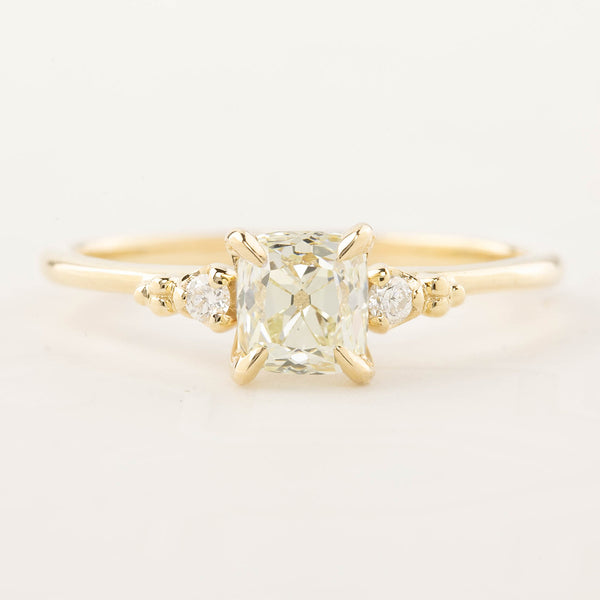Estel Ring - 0.83ct Cushion Cut Old Mine Brilliant Cut Diamond (One of a kind)