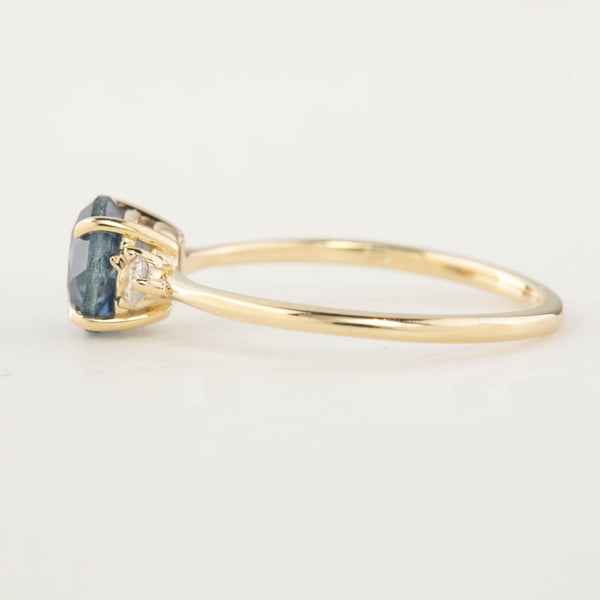 Emilie Ring - 1.52ct Blue Montana Sapphire (One of a kind)
