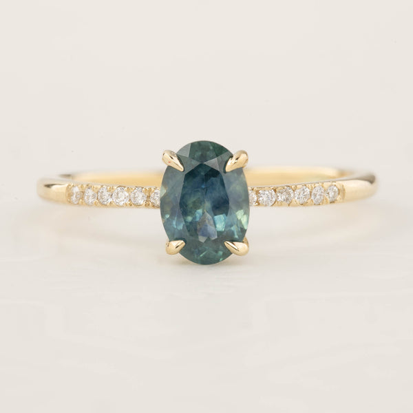 1.07ct Blue Green Montana Sapphire (One of a kind)