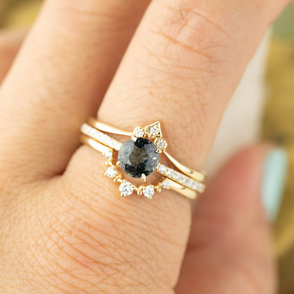 Audrey Ring - 1.14ct Teal Sapphire (One of a kind)