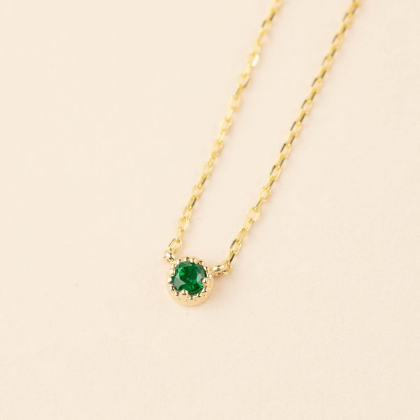 Dahlia Emerald Necklace