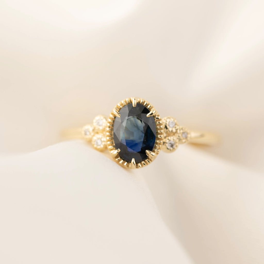 Celine Ring - 1ct Teal Sapphire (One of a kind)