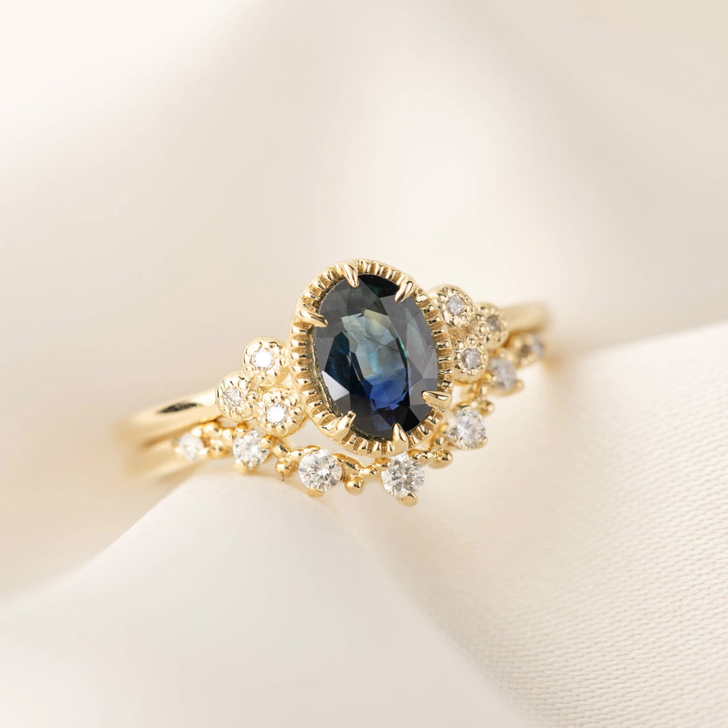 Celine Ring - 1.06ct Teal Sapphire (One of a kind)