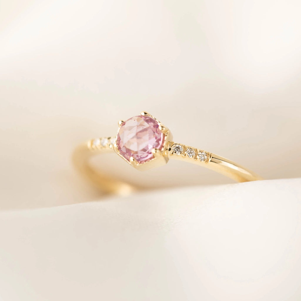 Grace Ring - 4.5mm Purple Sapphire (One of a kind)
