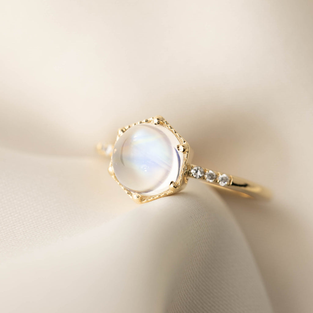 Grace Ring - 1.84ct Rainbow Moonstone