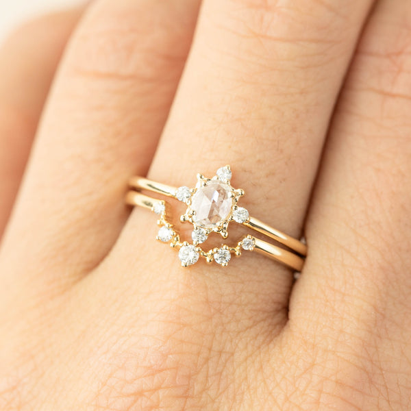 Victoria Ring - 0.22ct Rose Cut Diamond (Ready To Ship)