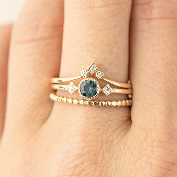Star & Moon Ring - 0.4ct Queensland Sapphire (one of a kind)