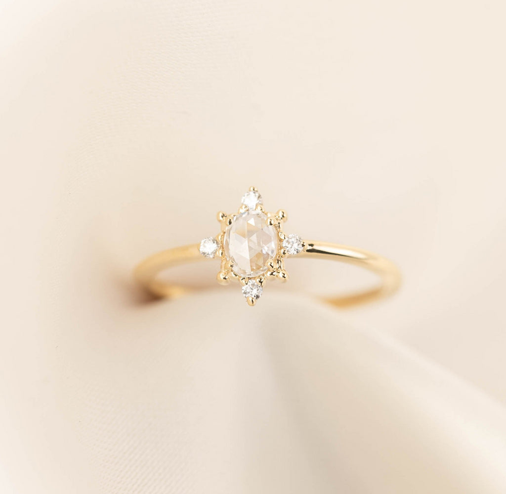 Victoria Ring - 0.27ct Rose Cut Diamond (One of a kind)