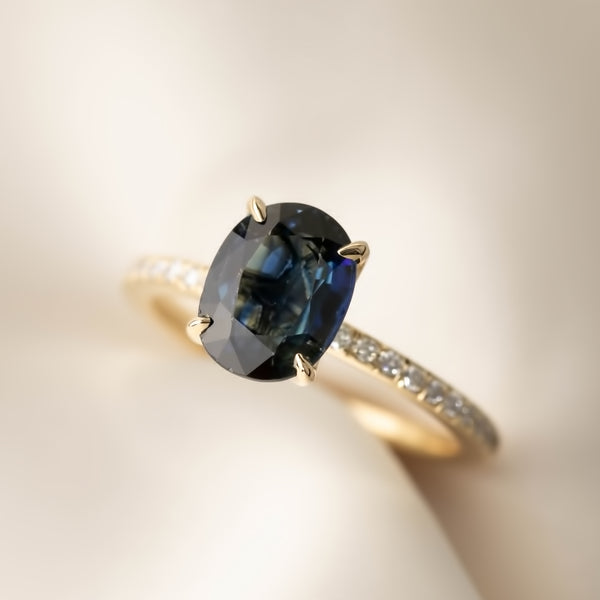 Maria Ring - 2.58ct Teal Blue Sapphire (One of a kind)