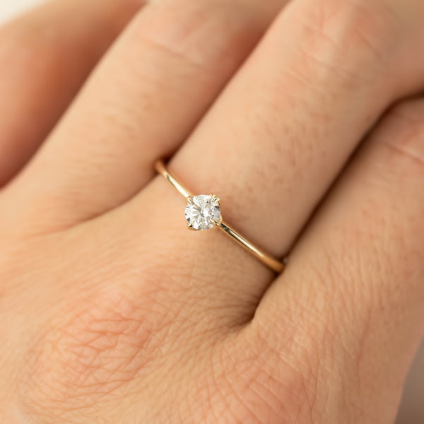 Alice Ring - 4mm Brilliant Cut Diamond
