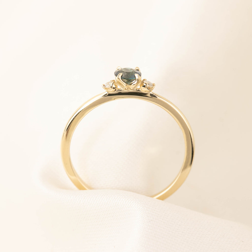 Sofia Ring - Teal Sapphire (One of a kind B)